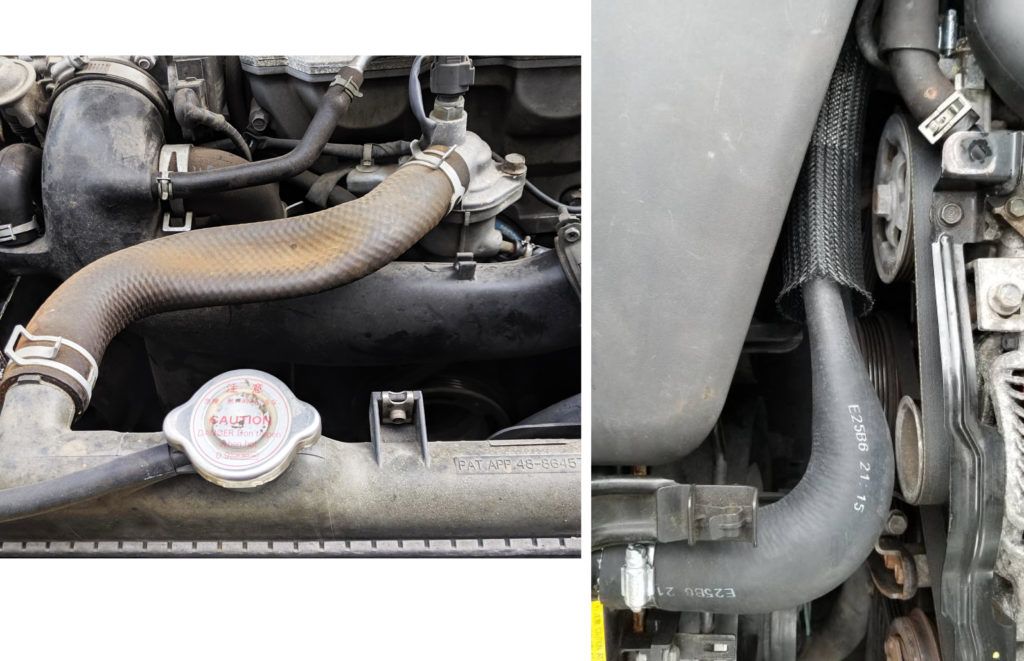 collapsed radiator hose