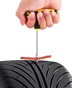 Inserting a tire plug