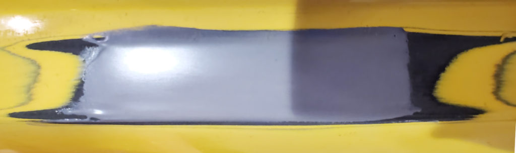 fill bumper dent with epoxy