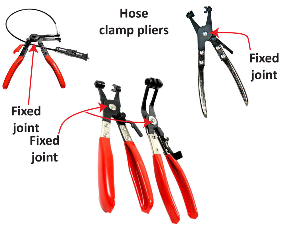 fixed joint hose clamp pliers
