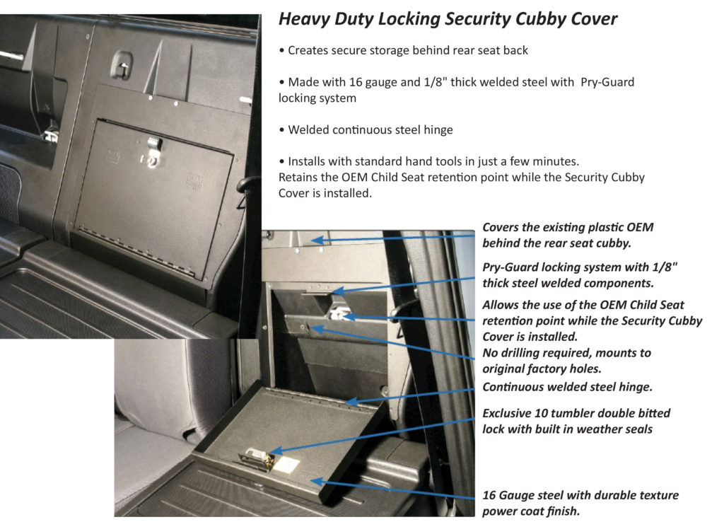 truck organizer cubby cover