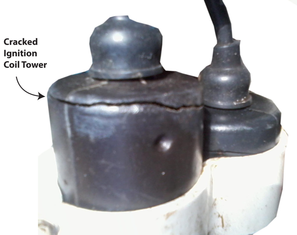 cracked ignition coil