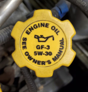 motor oil filler cap