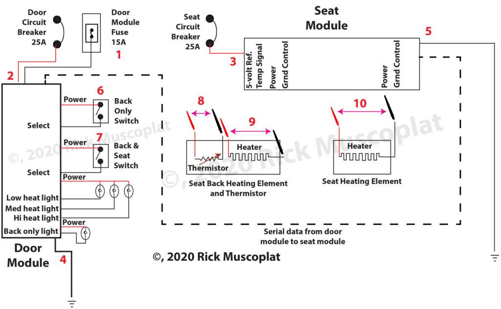 heated seats wiring diagram