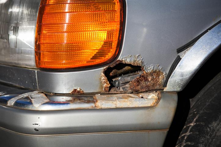 perforating car rust