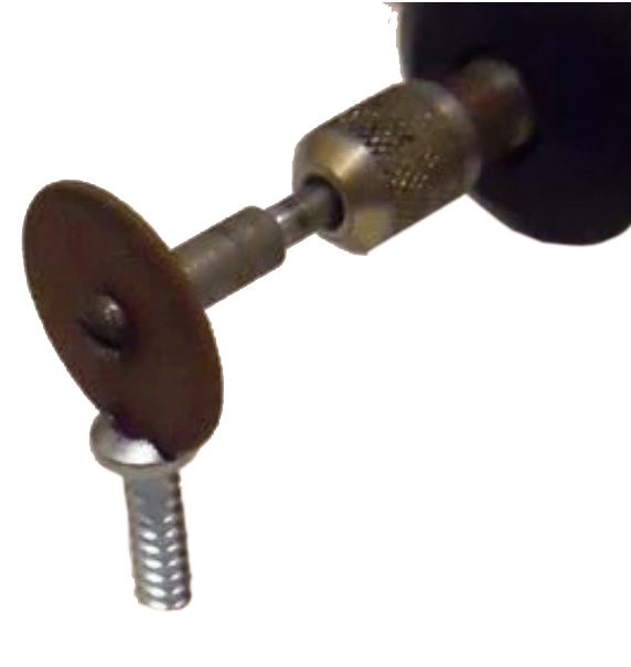 cut a slot into the stripped screw head