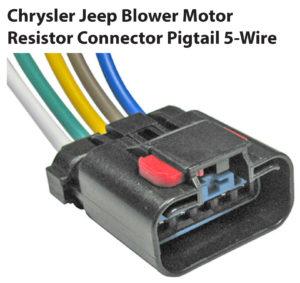 Chrysler Jeep Blower Motor Resistor Resistor Pigtail 5-Wire