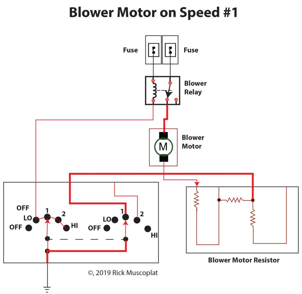 Blower motor on speed 1