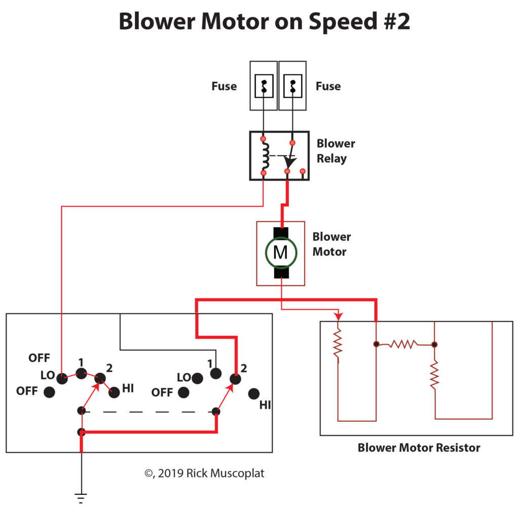 Blower motor on speed 2