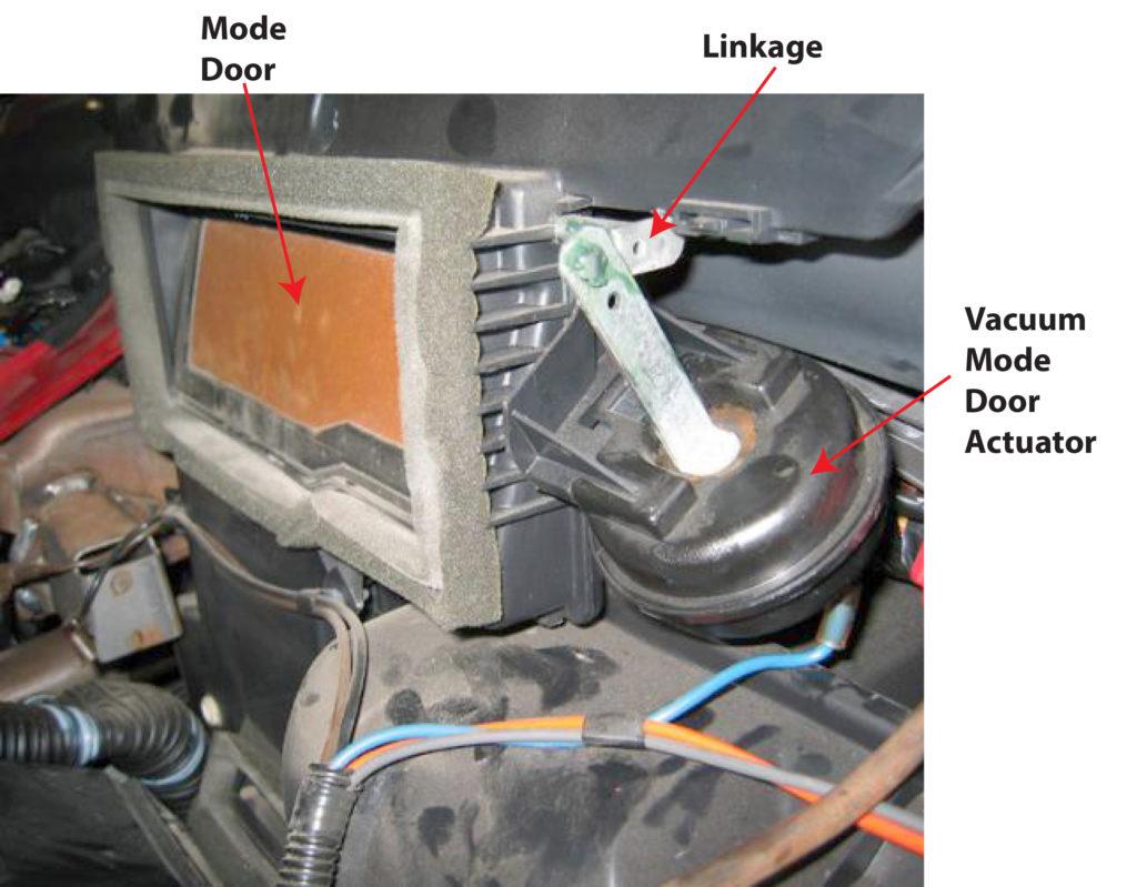 vaccum mode door actuator