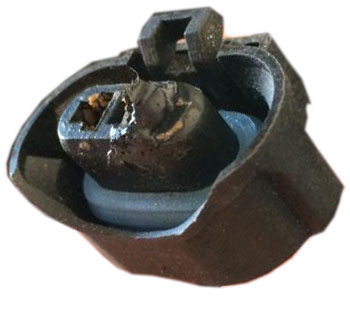 melted connector a