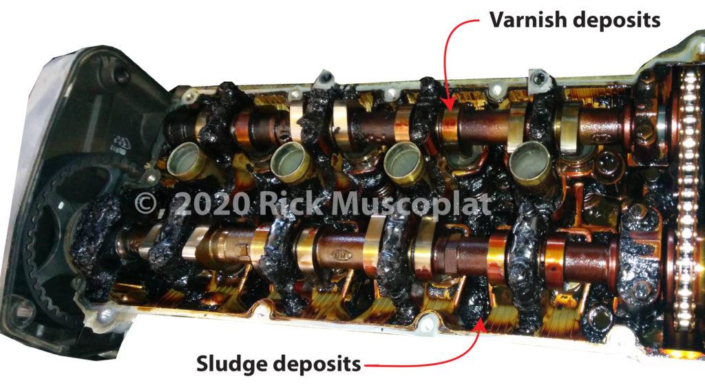sludge and varnish deposits in engine
