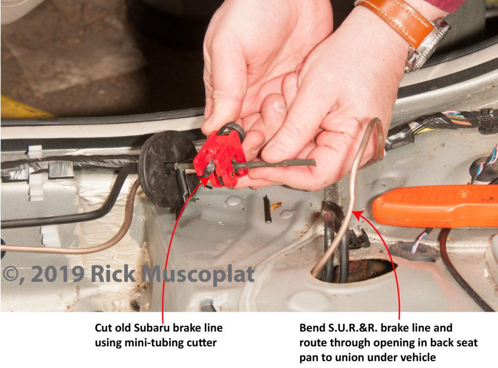 cut brake line