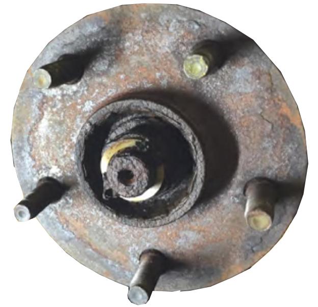 rusted wheel hub