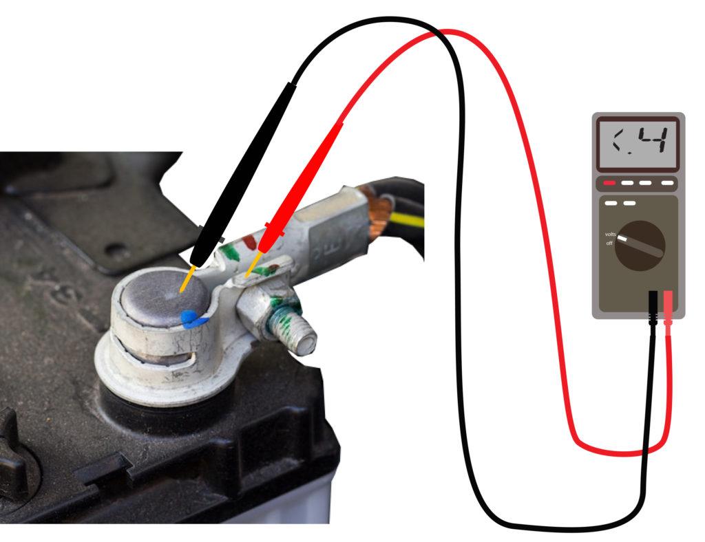 car battery voltage drop