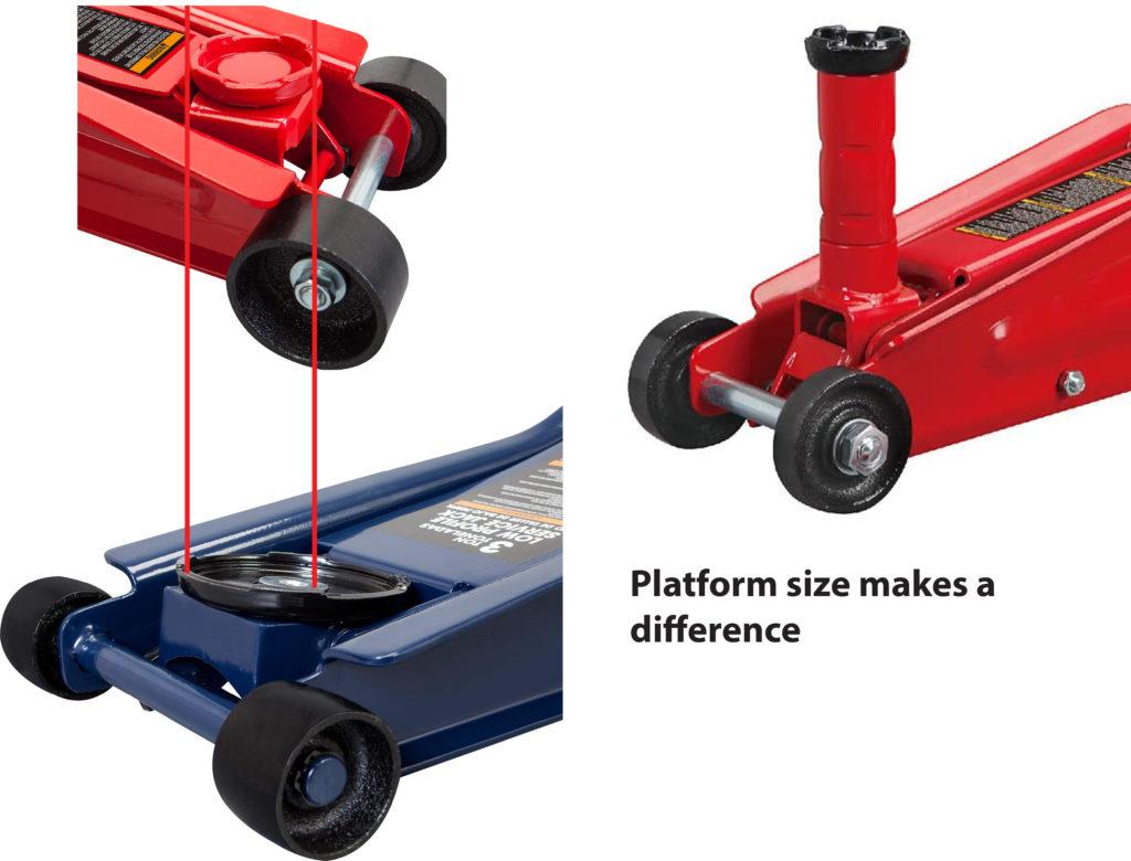 floor jack platform size