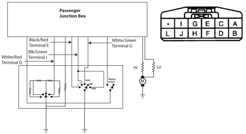 mazda wiper wiring diagram