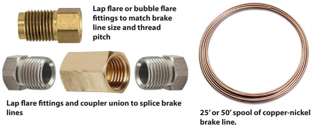 rusted brake line supplies