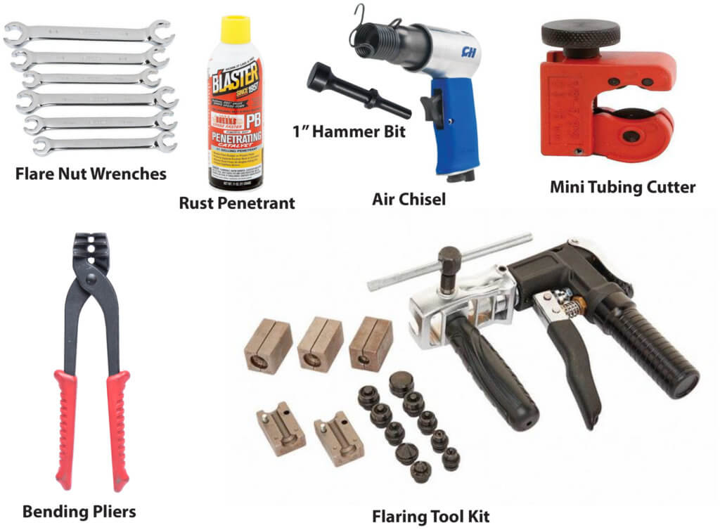 brake line repair tools