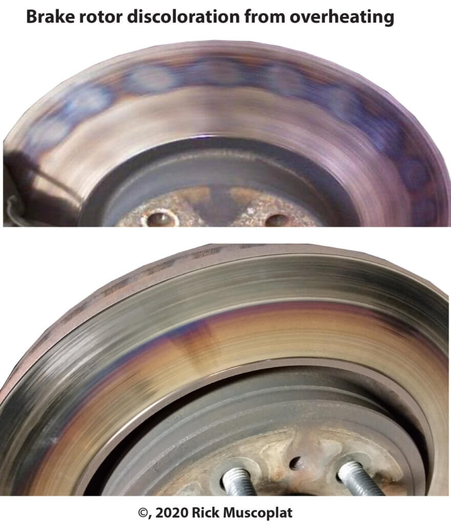 Overheated brake rotor