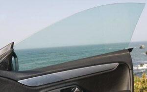 frameless car door window