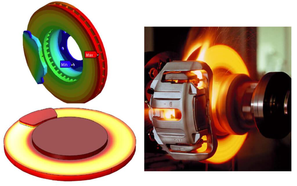 brake rotor heat distribution