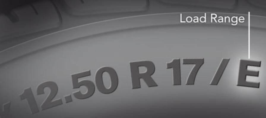 tire load range