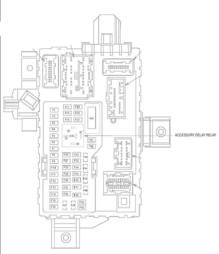 2011 Ford Fusion smart junction box diagram