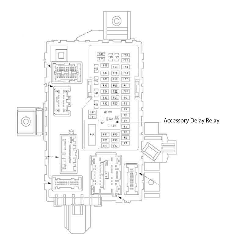 2011 Ford mustang smart junction box fues diagram