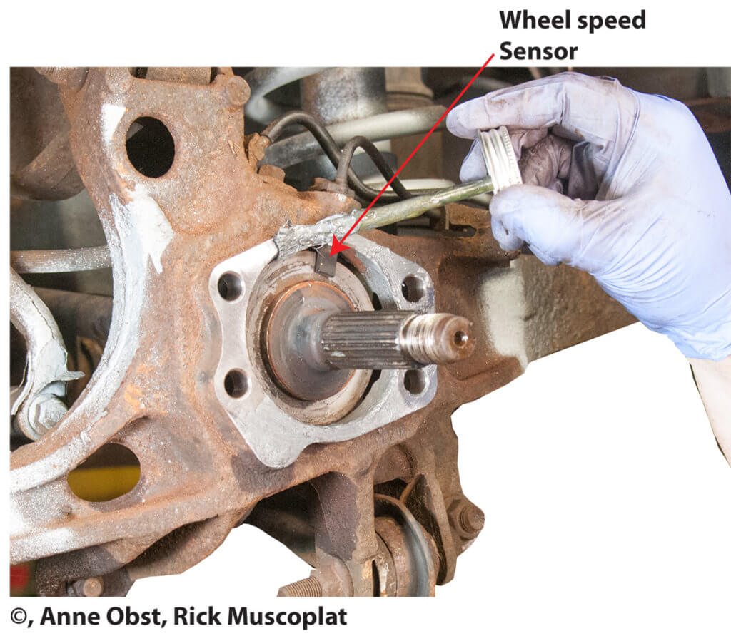 apply antiseize to wheel bearing mounting area