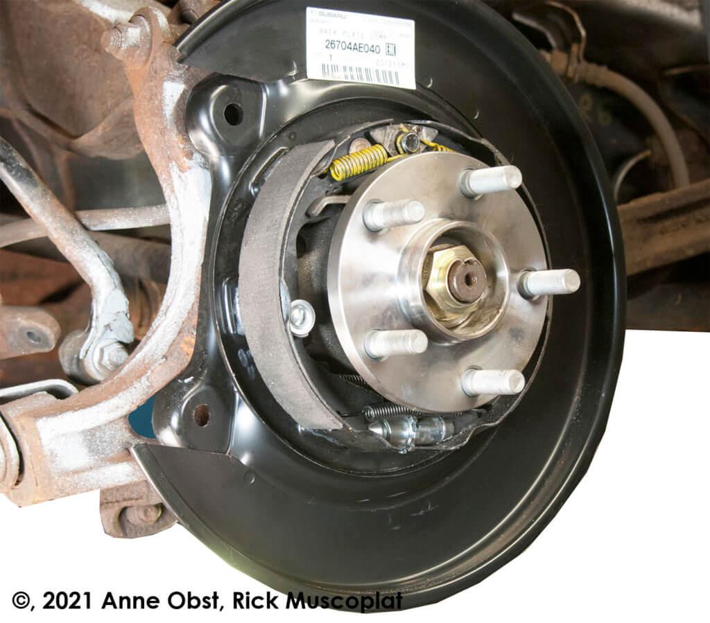 Finished installing new wheel bearing on subaru