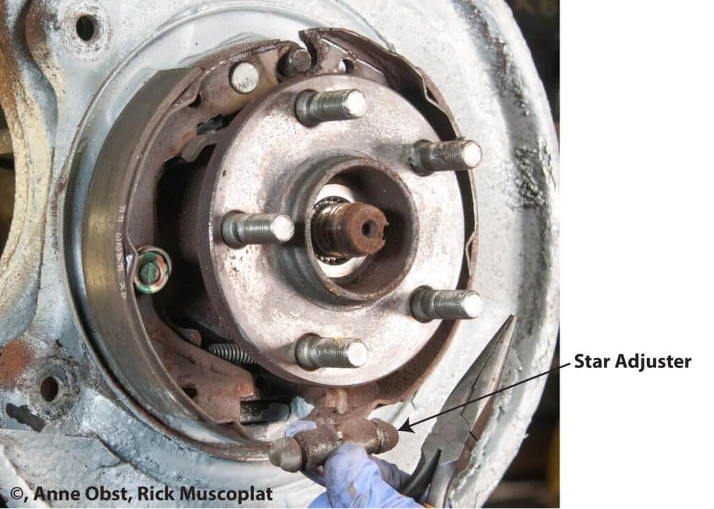 parking brake star adjuster