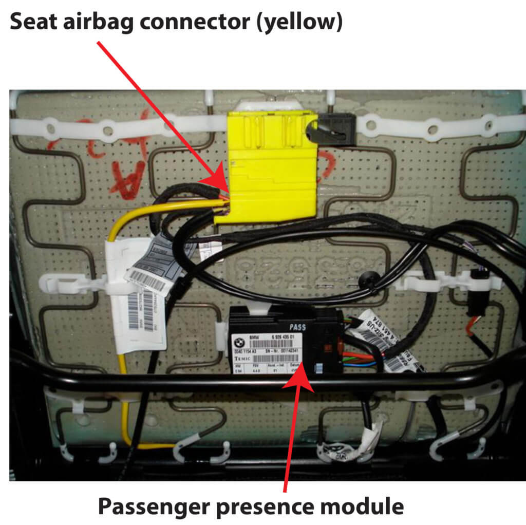 seat airbag connector