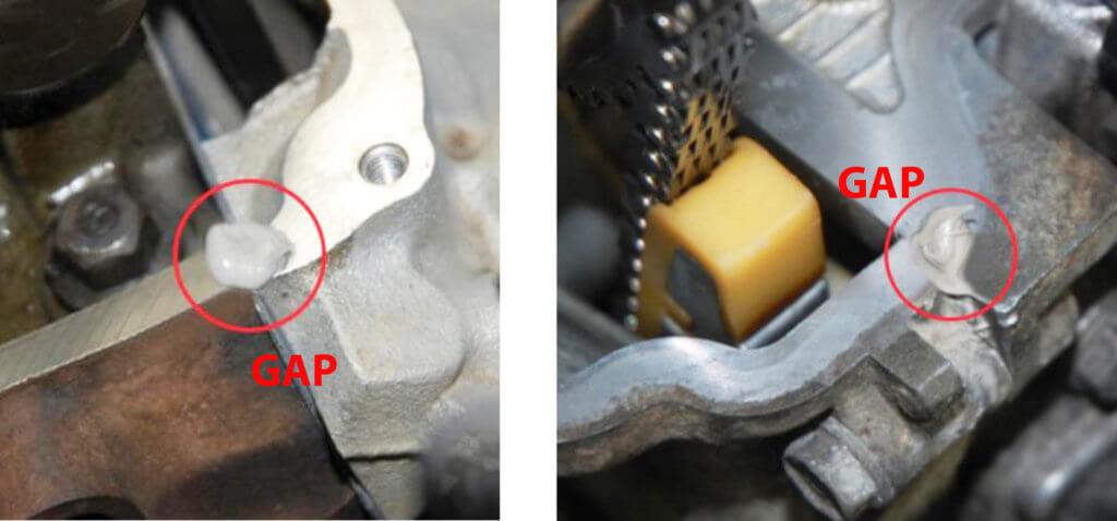 valve cover gasket gap